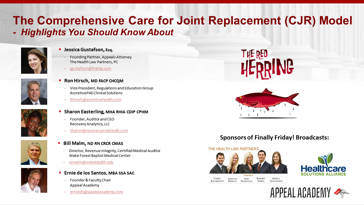 Finally Friday Comprehensive Care For Joint Replacement Model Cjr