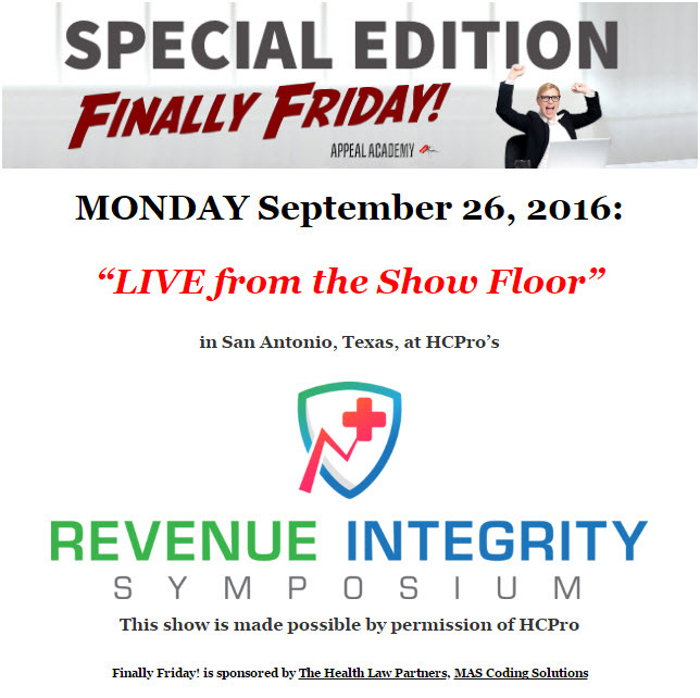 "Special Edition ""Finally Friday!"" – Tuesday July 27 2016"